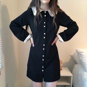 Vintage Pilgrim Victorian Button Shirt Dress s